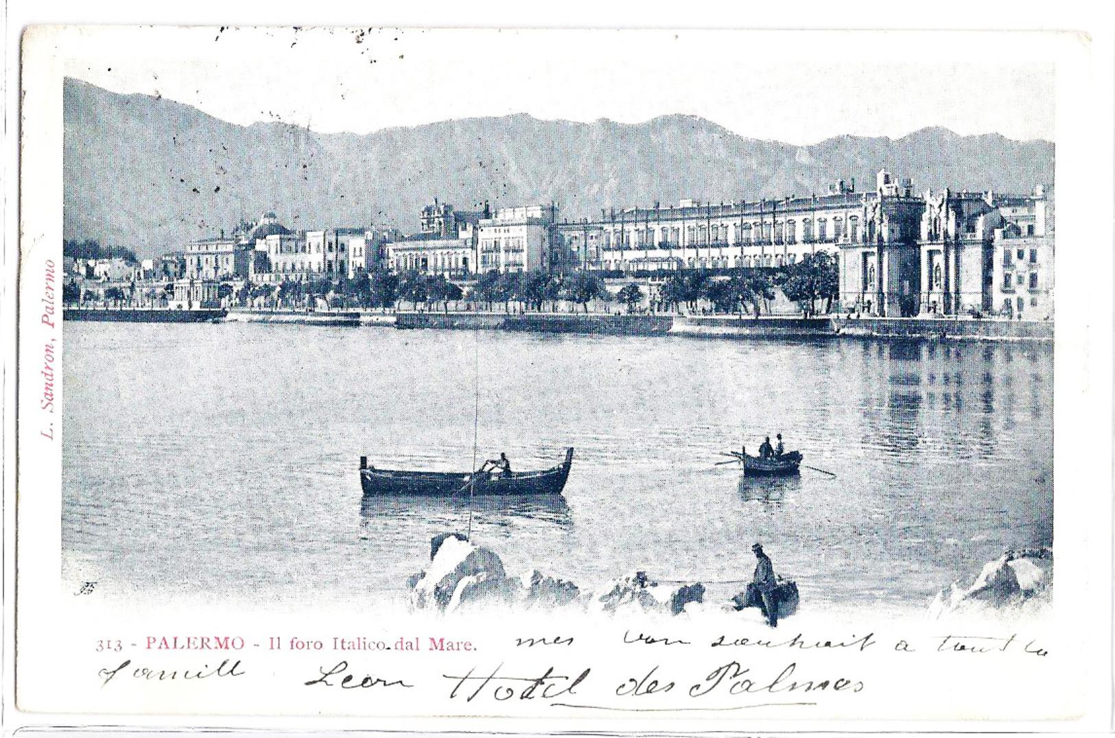 Palermo - Il Foro Italico Dal Mare. 1908 - Palermo
