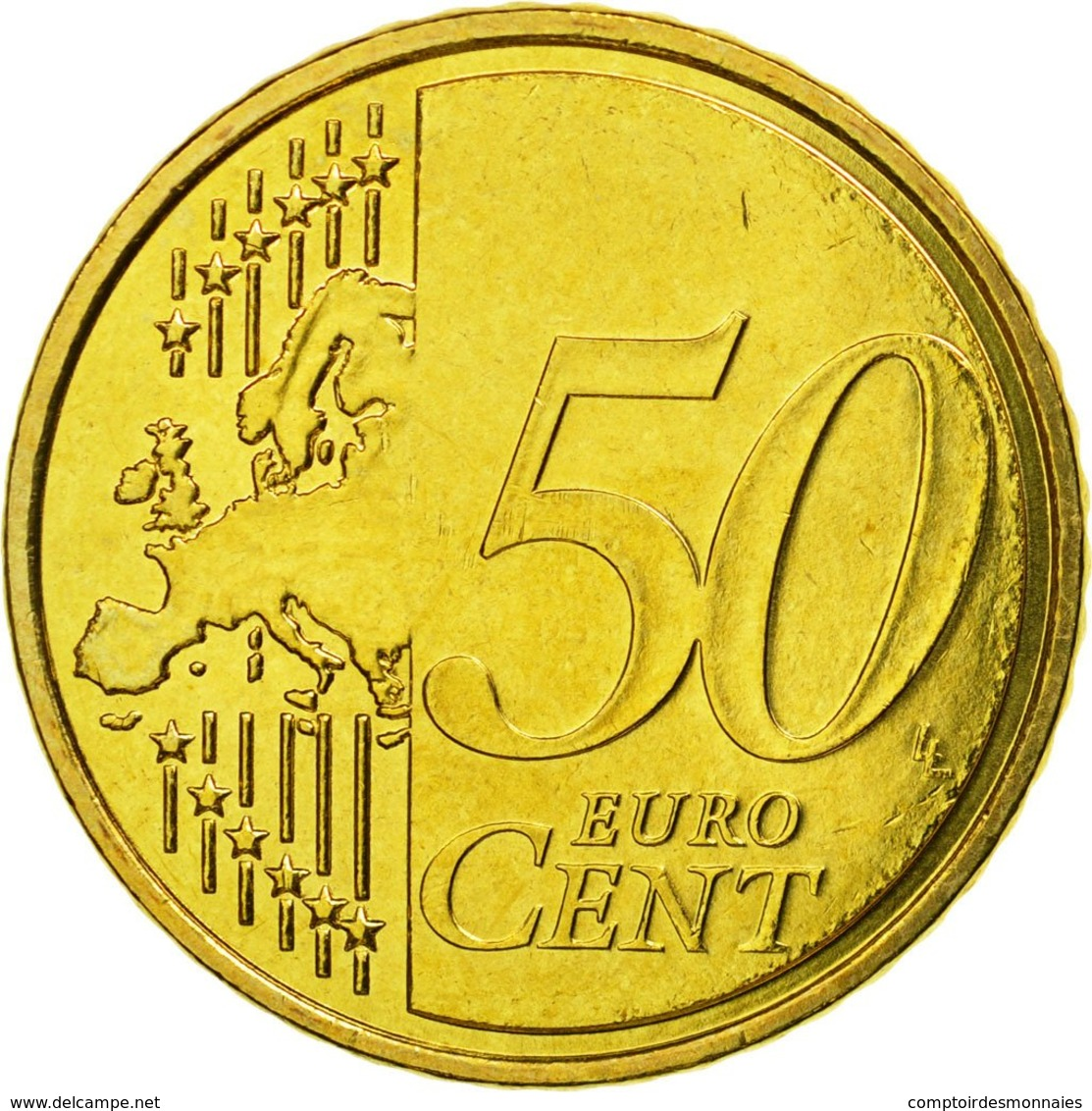 Malte, 50 Euro Cent, 2008, SUP, Laiton, KM:130 - Malta
