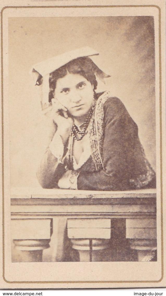 Photo Cdv Italia Costumi Costume Femme Noblesse ?  Italie Italy  PRIX FIXE - Anciennes (Av. 1900)