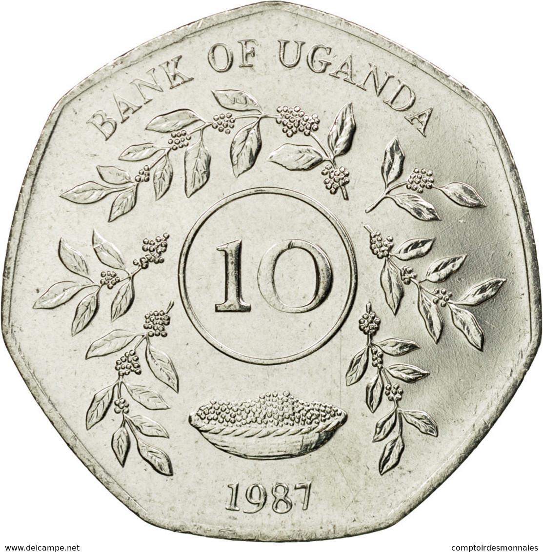 Monnaie, Uganda, 10 Shillings, 1987, SUP, Nickel Plated Steel, KM:30 - Ouganda