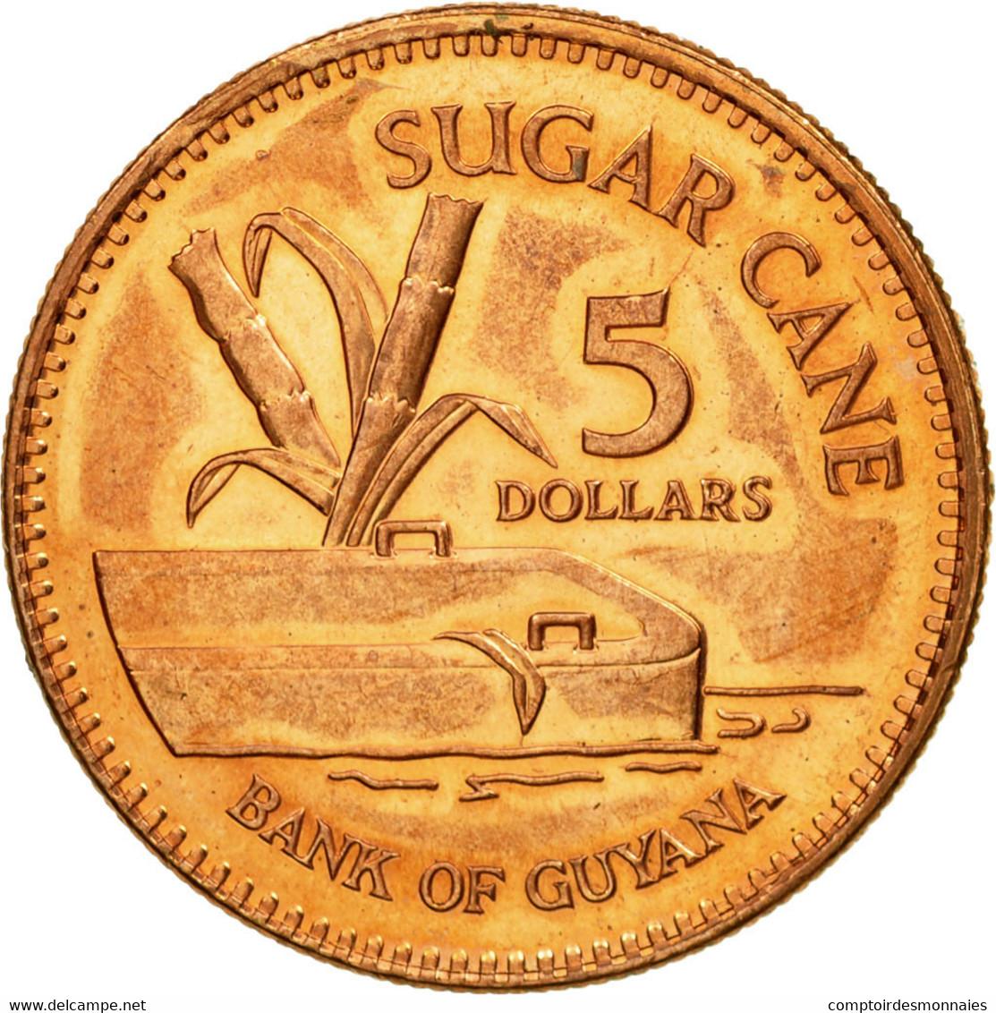 Monnaie, Guyana, 5 Dollars, 2005, Royal Mint, TTB, Copper Plated Steel, KM:51 - Guyana