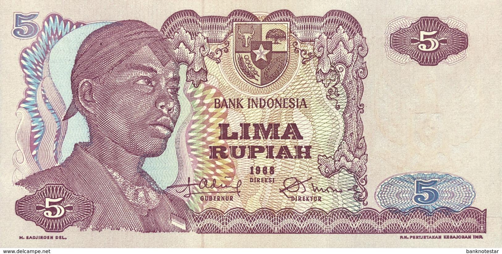 Indonesia 5 Rupiah, P-104r (1968) - Replacement Note - (UNC) - Indonesien