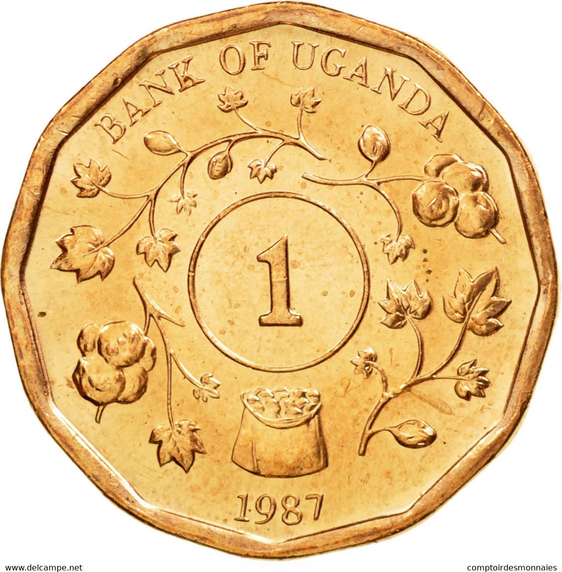 Monnaie, Uganda, Shilling, 1987, SUP, Copper Plated Steel, KM:27 - Ouganda