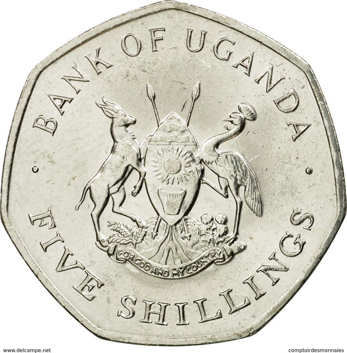 Monnaie, Uganda, 5 Shillings, 1987, SUP, Nickel Plated Steel, KM:29 - Ouganda