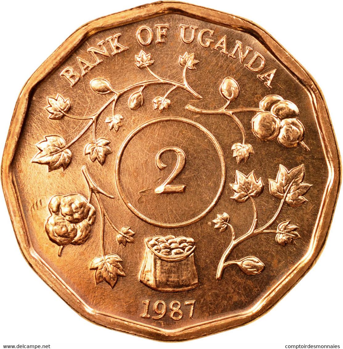 Monnaie, Uganda, 2 Shillings, 1987, SUP, Copper Plated Steel, KM:28 - Ouganda