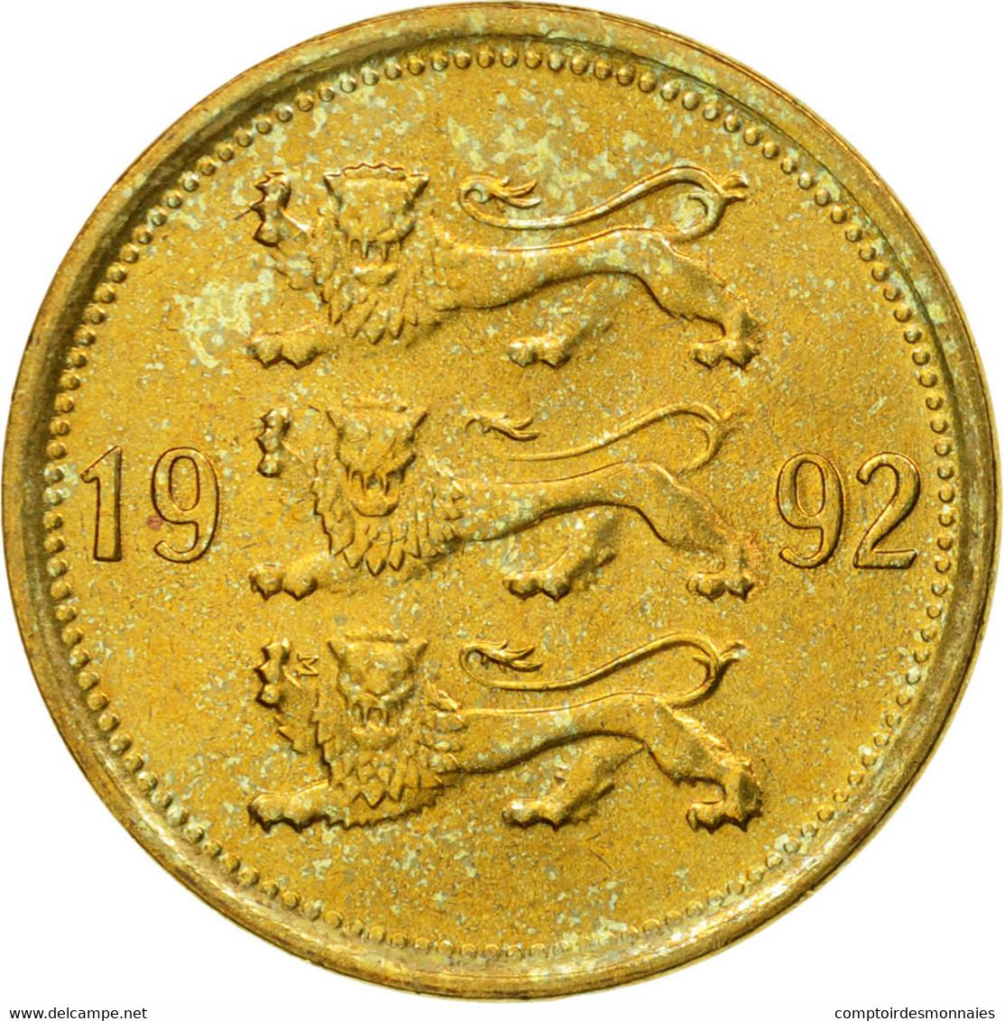 Monnaie, Estonia, 50 Senti, 1992, TB+, Aluminum-Bronze, KM:24 - Estonie