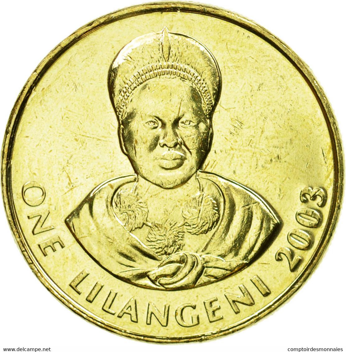 Monnaie, Swaziland, King Msawati III, Lilangeni, 2003, British Royal Mint, SUP - Swaziland