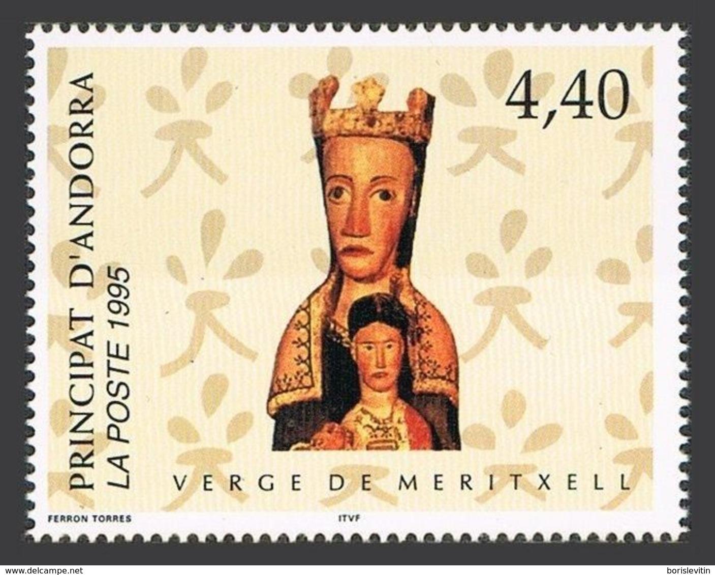 Andorra Fr 453,MNH.Michel 482. Virgin Of Meritxell,1995. - French Andorra