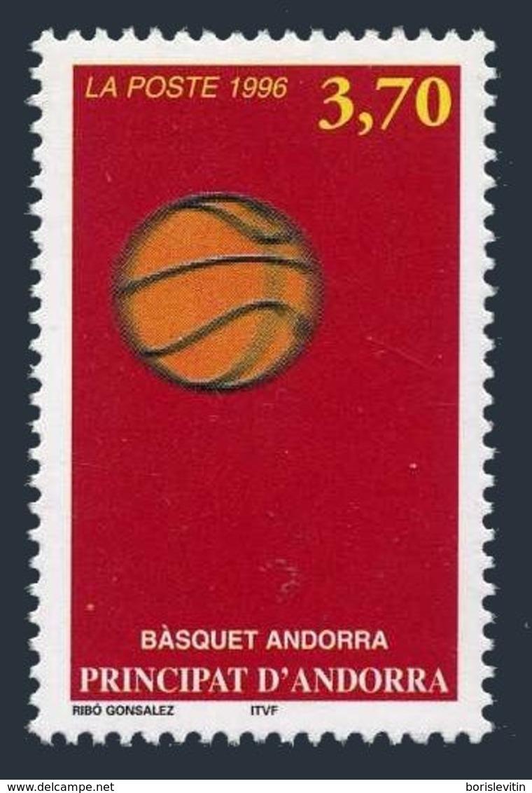 Andorra Fr 460,MNH.Michel 489. Basketball In Andorra,1996. - French Andorra