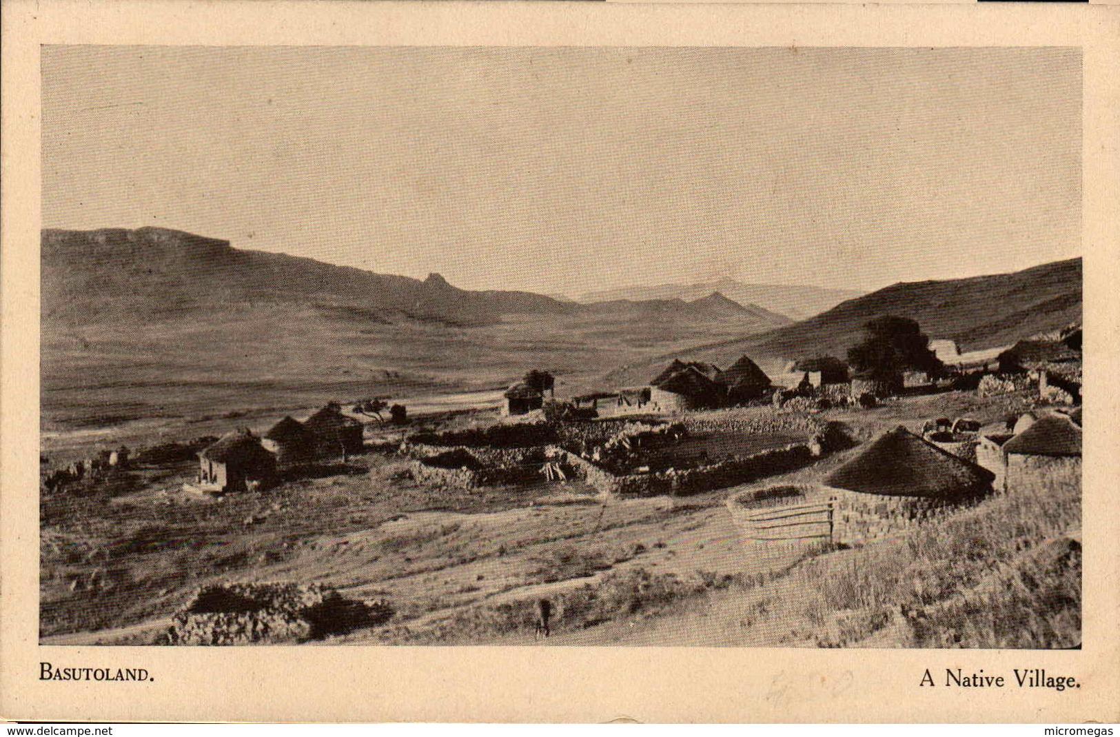 BASUTOLAND - A Native Village - Lesotho
