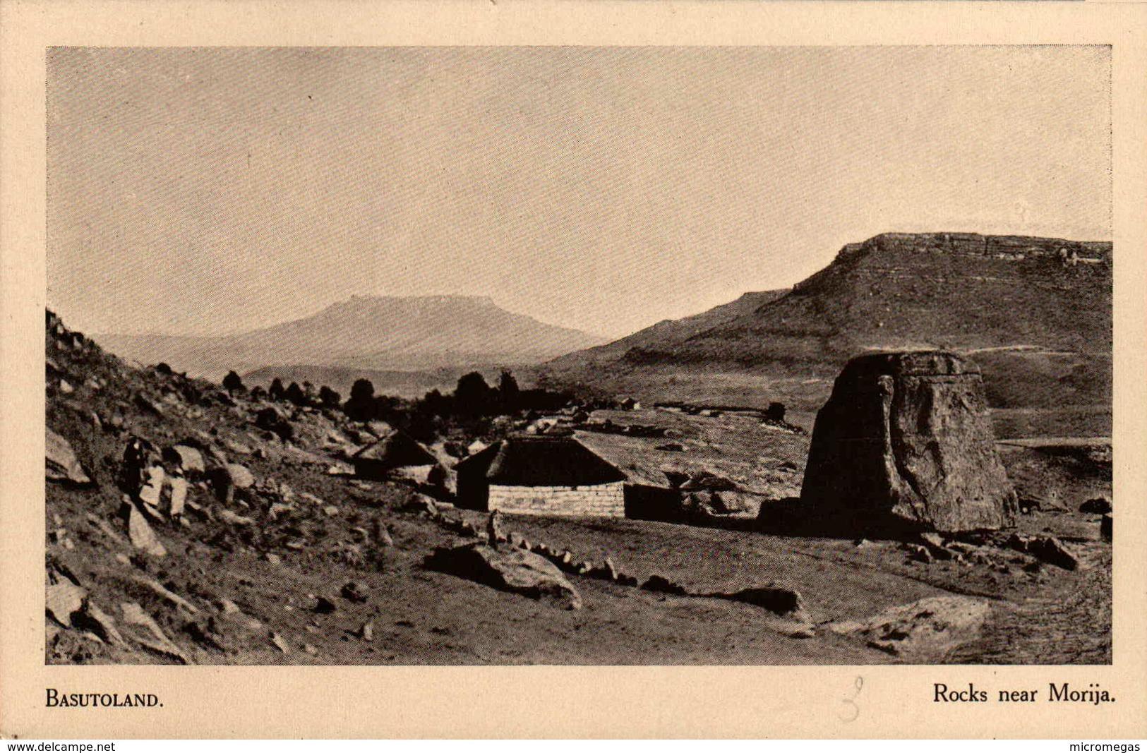 BASUTOLAND - Rocks Near Morija - Lesotho