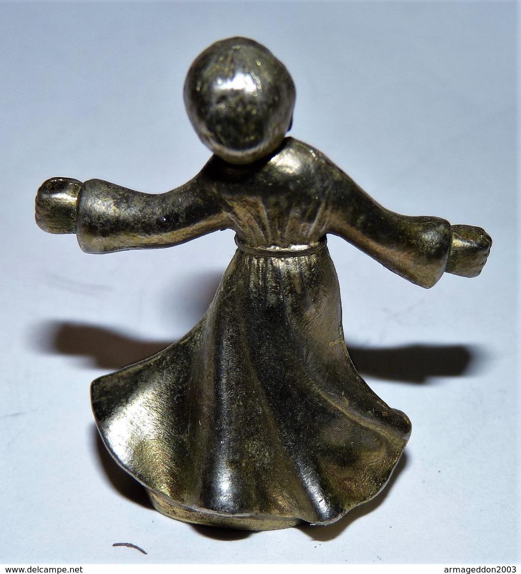 ANCIEN PETITE SCULPTURE METAL ARGENTE UN ANGE ENFANT / BE - Sculptures
