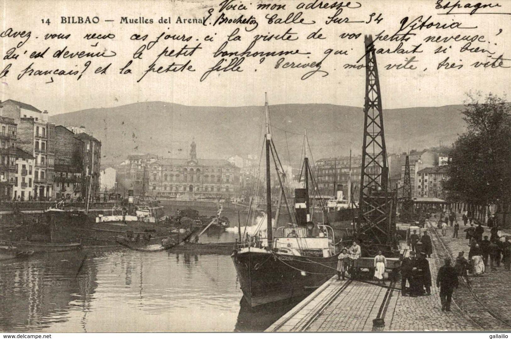 ESPAGNE BILBAO MUELLES DEL ARENAL - Vizcaya (Bilbao)