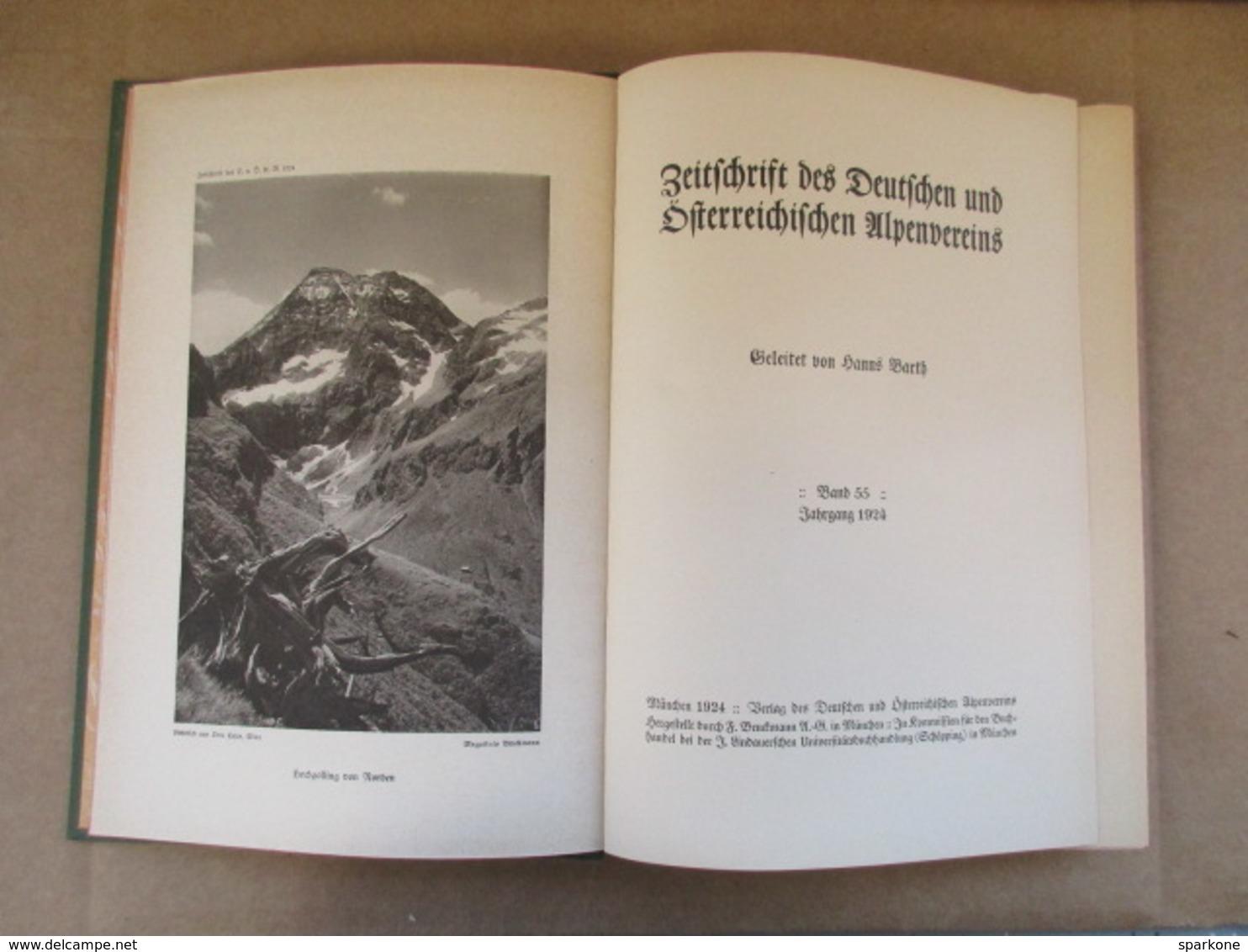 Zeitschrift Des Deutschen Und Österreichischen Alpen-Vereins / éditions De 1924 - Livres Anciens