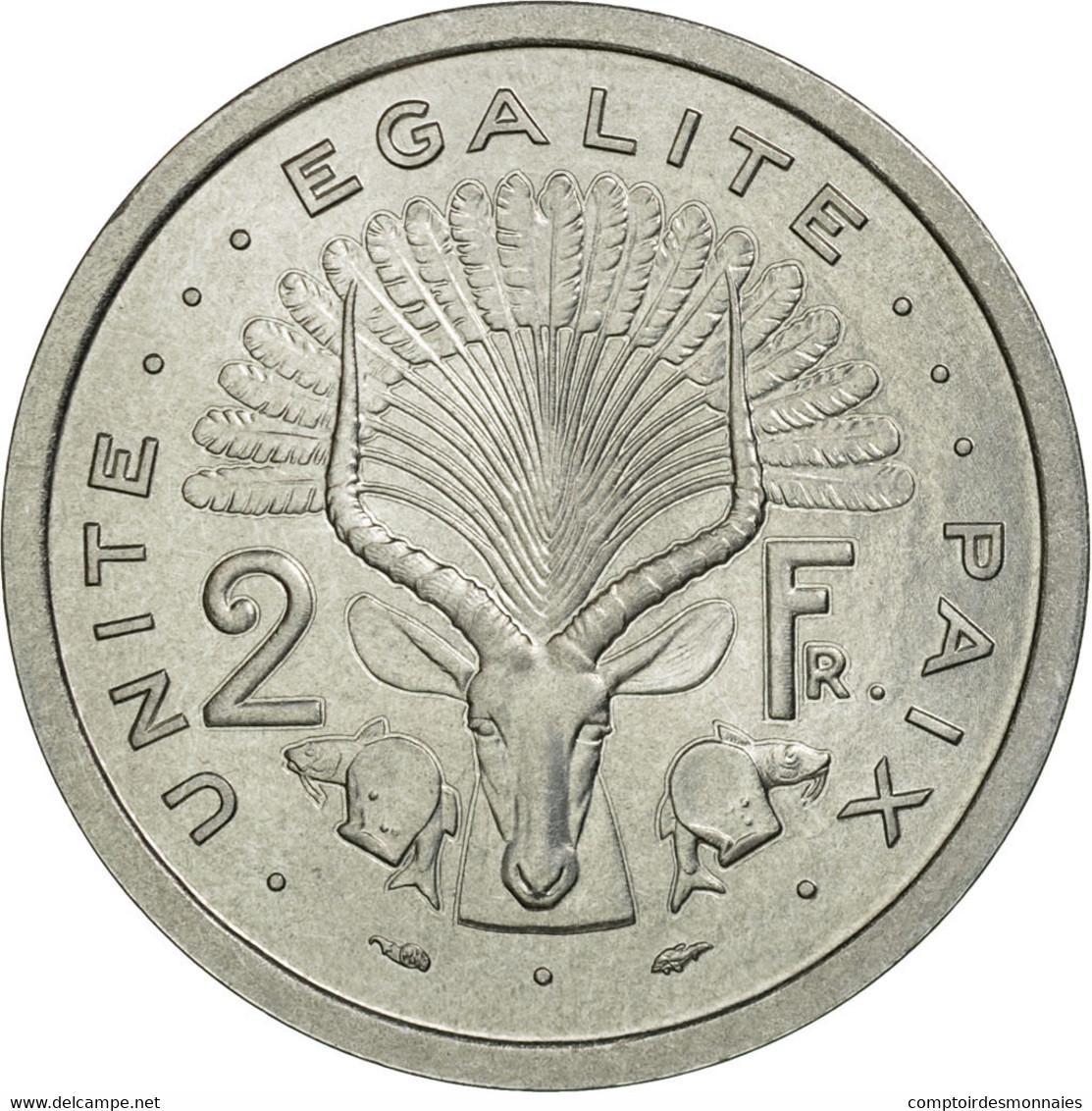 Monnaie, Djibouti, 2 Francs, 1977, Paris, ESSAI, FDC, Aluminium, KM:E2 - Djibouti