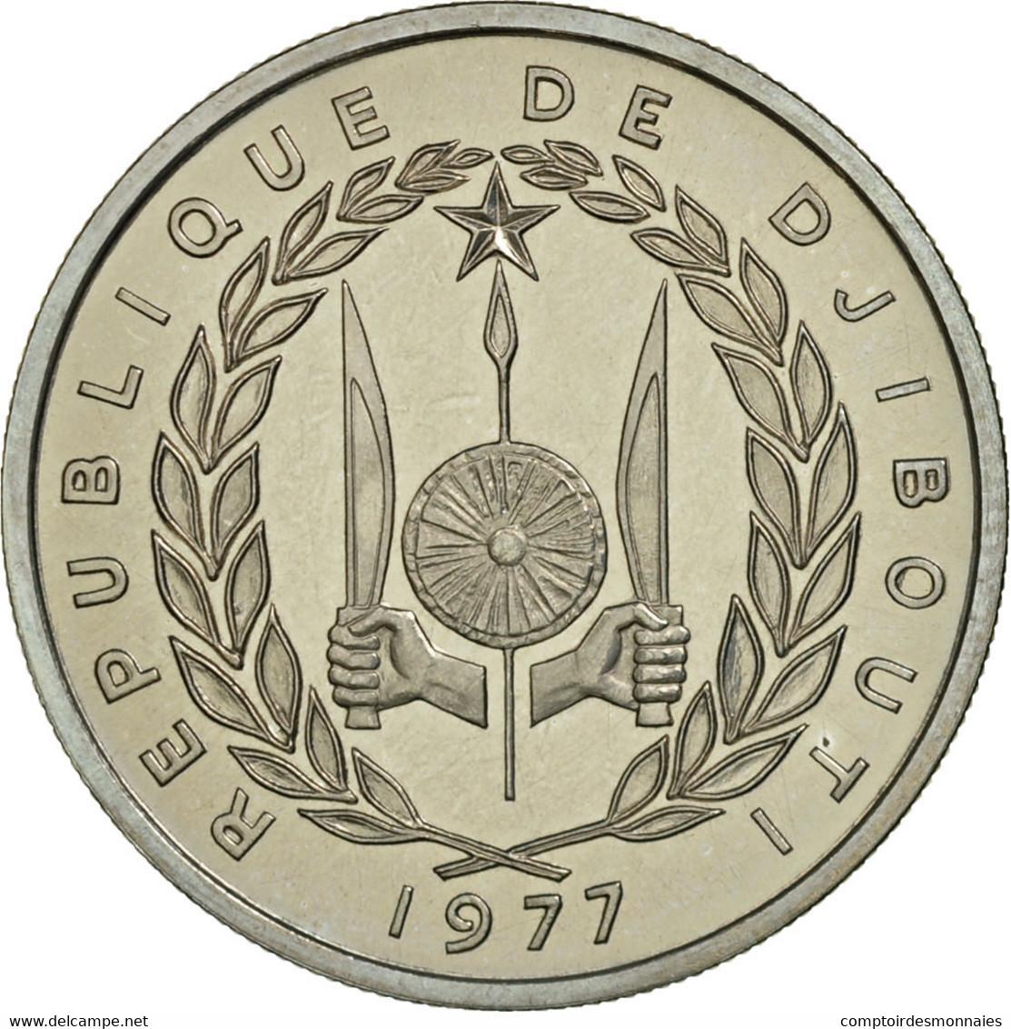 Monnaie, Djibouti, 50 Francs, 1977, Paris, ESSAI, FDC, Copper-nickel, KM:E6 - Djibouti