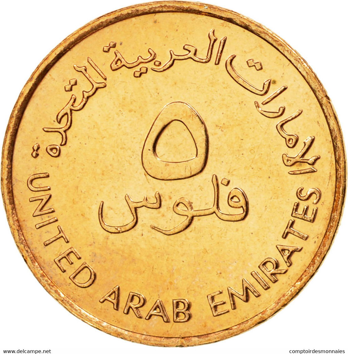 Monnaie, United Arab Emirates, 5 Fils, 2001, British Royal Mint, SUP, Bronze - Emirats Arabes Unis