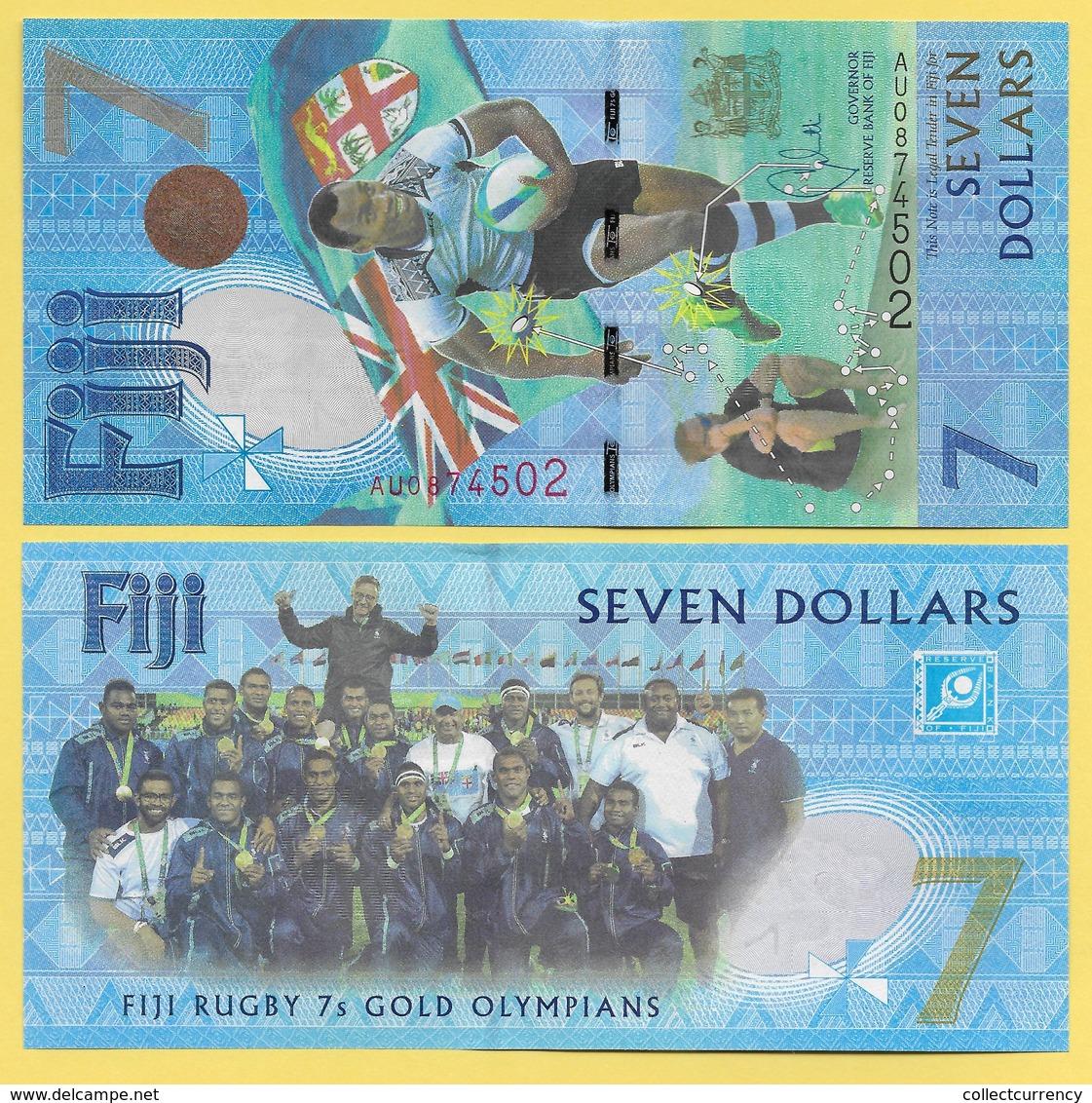 Fiji 7 Dollars P-120 2017 Commemorative UNC - Fidji