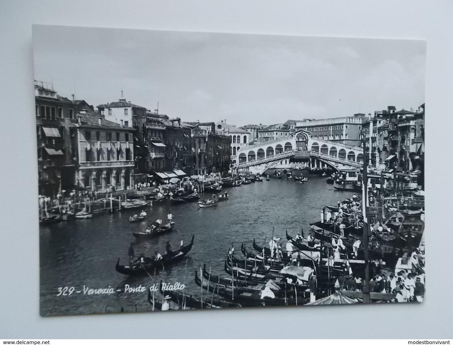 VENEZIA - Vera Fotografia , Real Photo -  Ponte Di Rialto - Venezia (Venice)