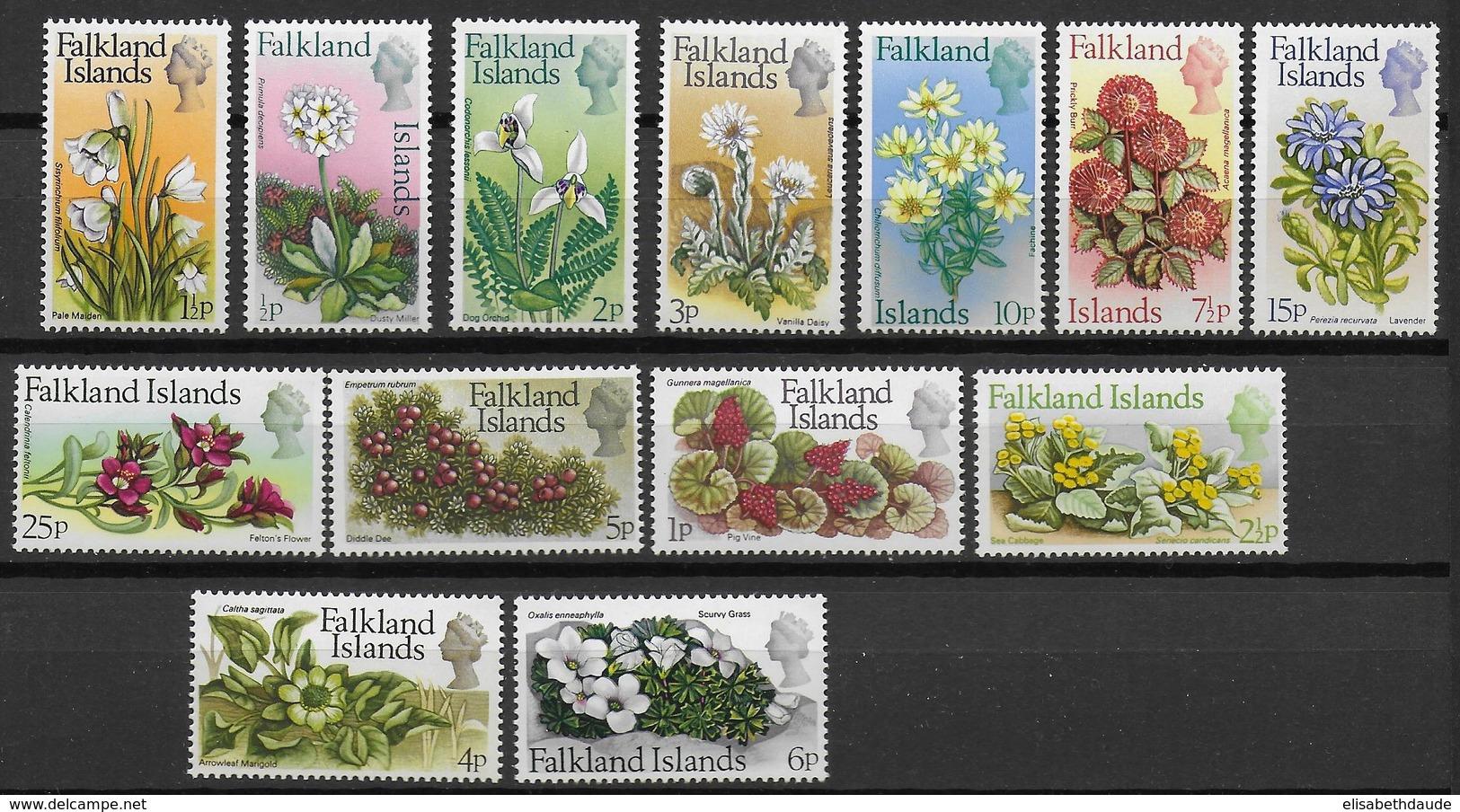 FALKLAND - YVERT N° 204/216 ** MNH - COTE = 80 EUR. - FAUNE ET FLORE - - Falkland