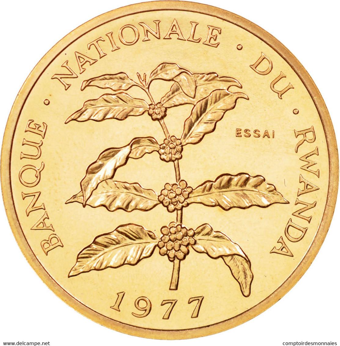 Monnaie, Rwanda, 5 Francs, 1977, Paris, ESSAI, FDC, Bronze, KM:E5 - Rwanda