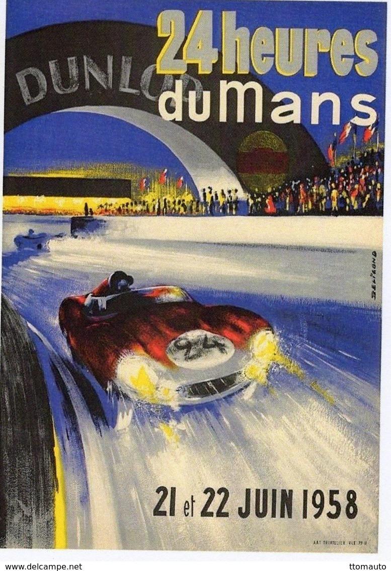 24 Heures Du Mans  -  1958    -  Publicité  -  CPR - Le Mans