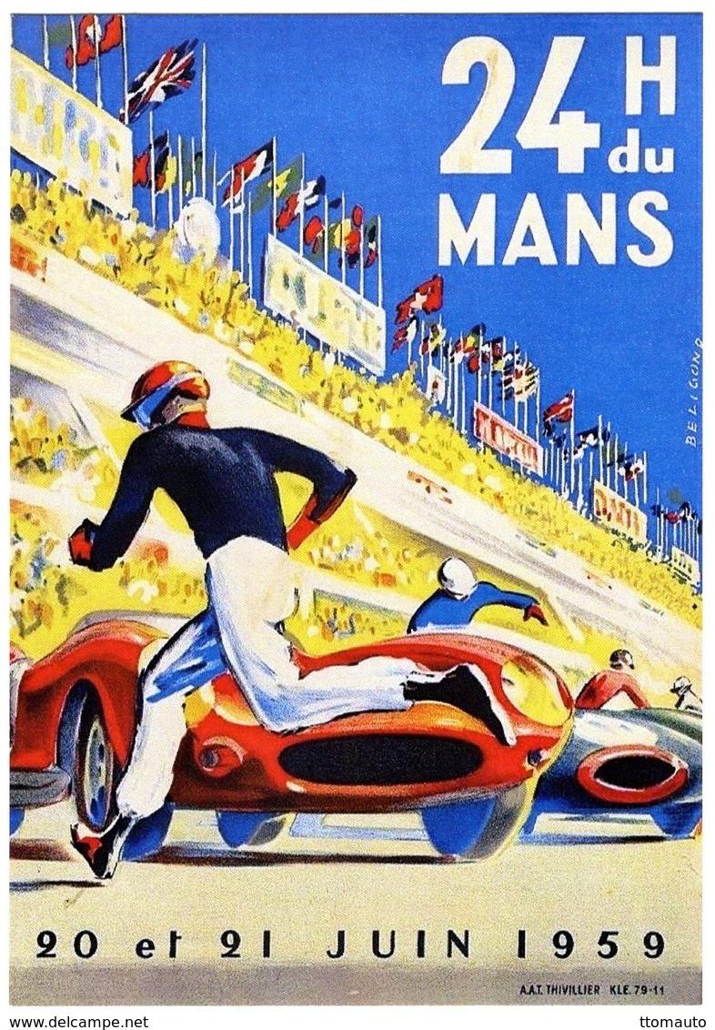 24 Heures Du Mans  -  1959    -  Publicité  -  CPR - Le Mans