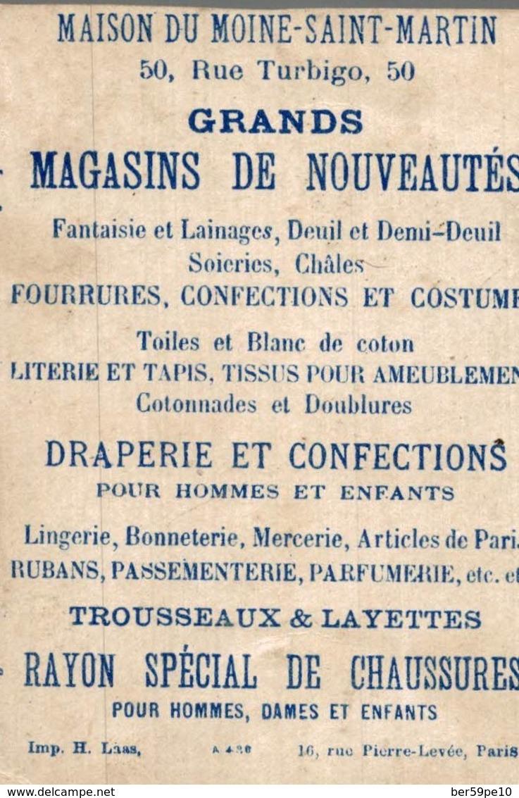 CHROMO GRANDS MAGASINS DE NOUVEAUTES   DRAPEAU  14 JUILLET 1880  GENIE - Chromos