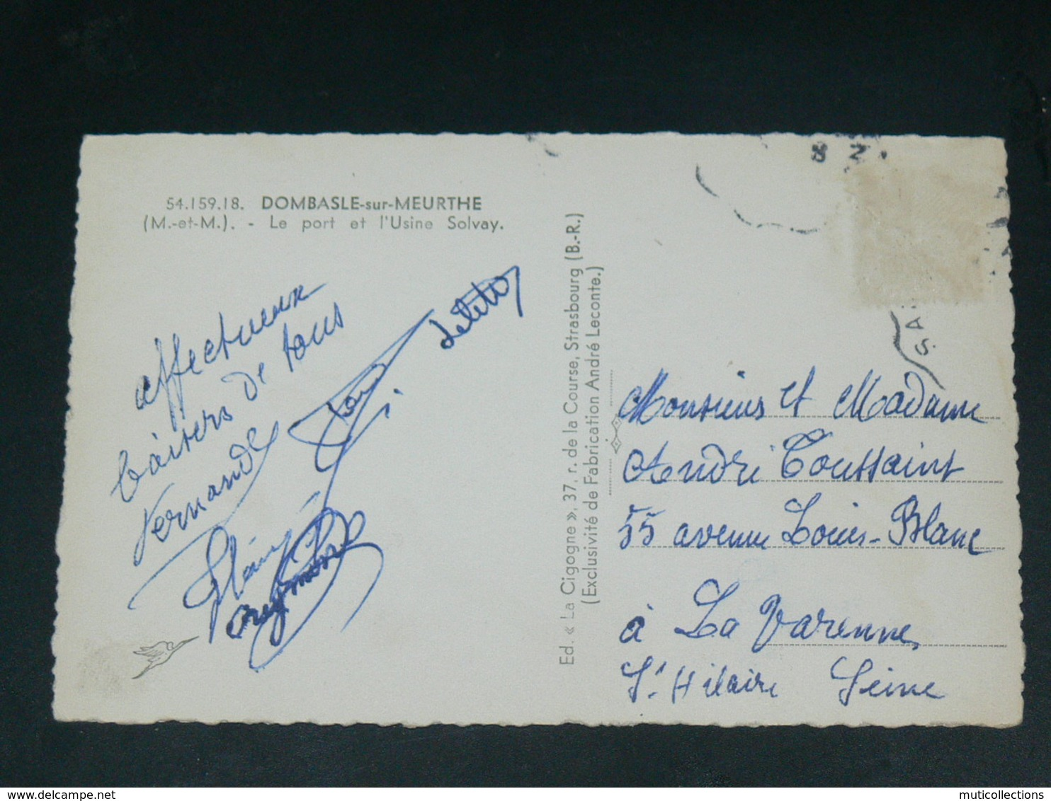 DOMBASLE SUR MEURTHE  / ARDT NANCY   1950  /   VUE  USINE SOLVAY   ... EDITEUR - France