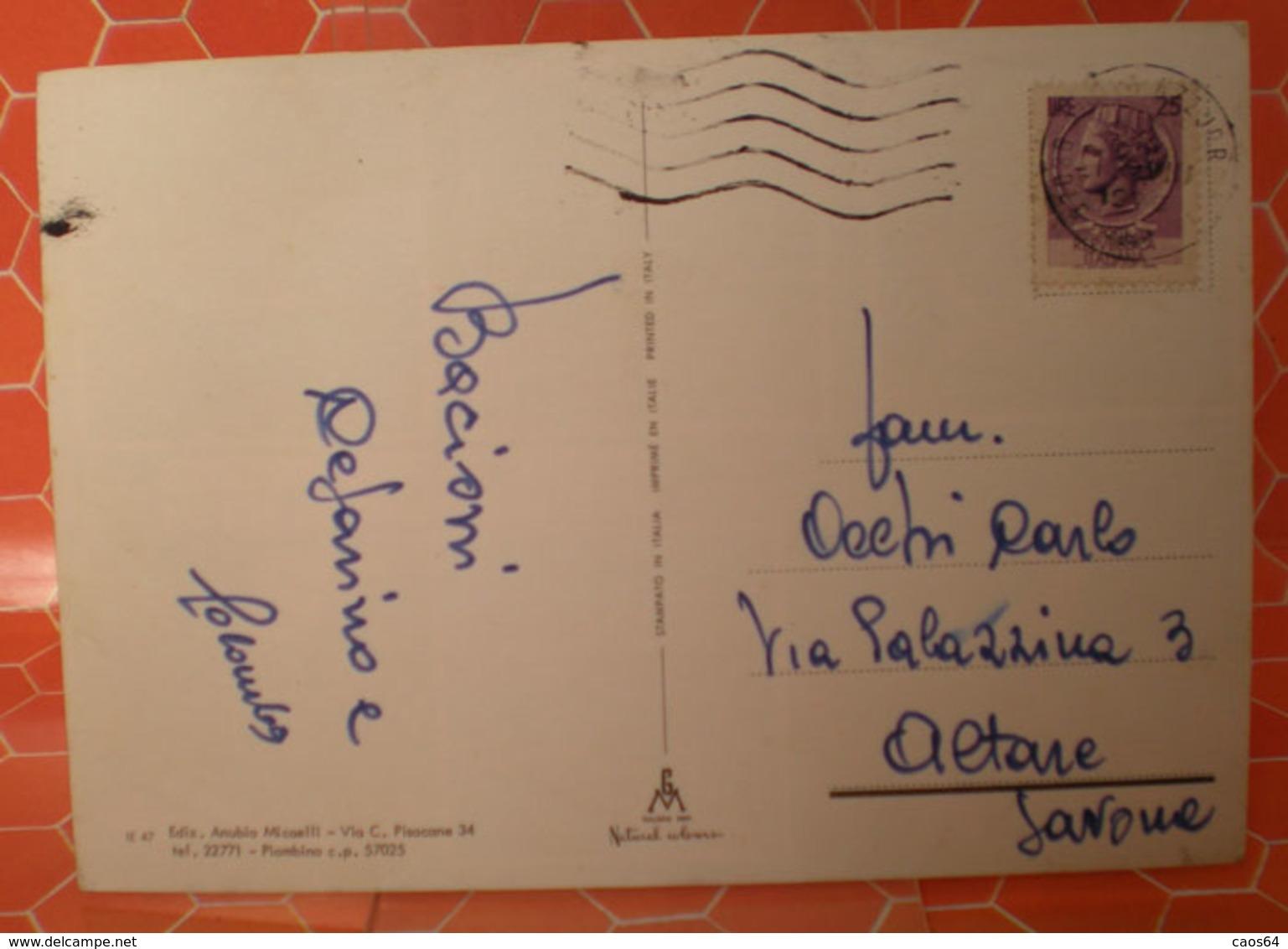 ISOLA D'ELBA  CARTOLINA 1978 - Italia