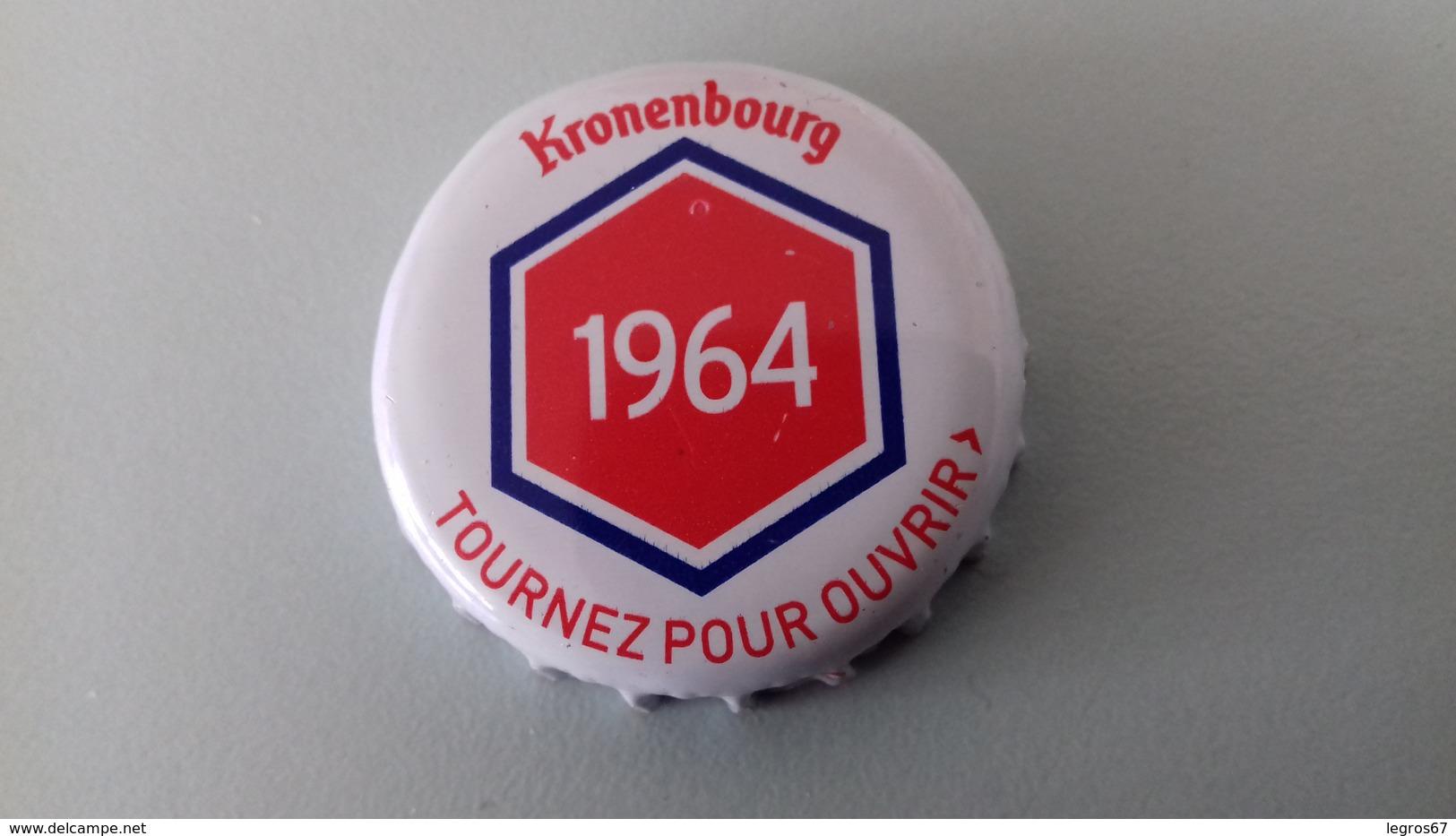 CAPSULE DE BIERE KRONENBOURG 1964 ROUGE - Beer