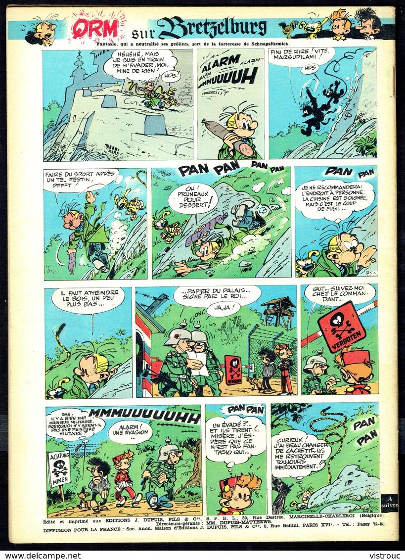 """SPIROU N° 1328 -  Année 1963 - Couverture """"GASTON"""" De FRANQUIN. - Spirou Magazine"""