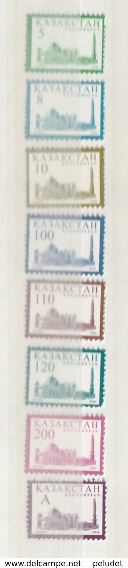 Kazakhstan 2006 Set Of 7 Mosques UM (imagen 8, Excepto 100) - Kazajstán