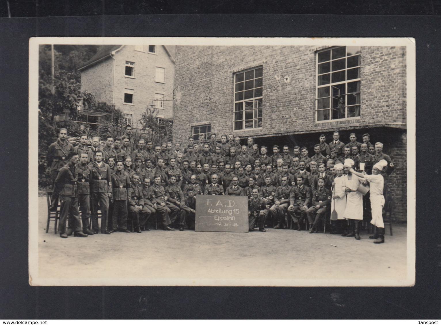 Dt. Reich AK FAD Freiwilliger Arbeitsdienst Abteilung 15 Eppstein 1933 - Weltkrieg 1939-45