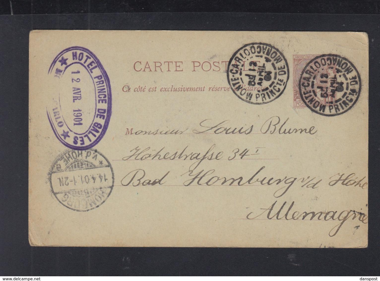 Monaco GSK 1901 Nach Deutschland - Ganzsachen