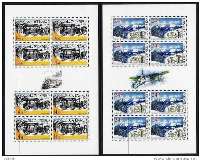 SLOVAKIA 2004 Technical Monuments Sheetlets MNH / **.  Michel 490-91 - Blocks & Sheetlets