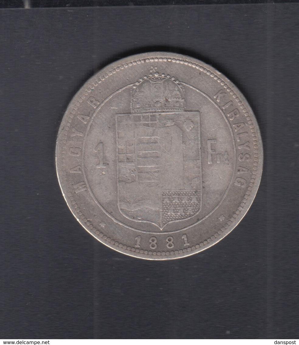Hungary  1 Forint 1881 - Ungarn