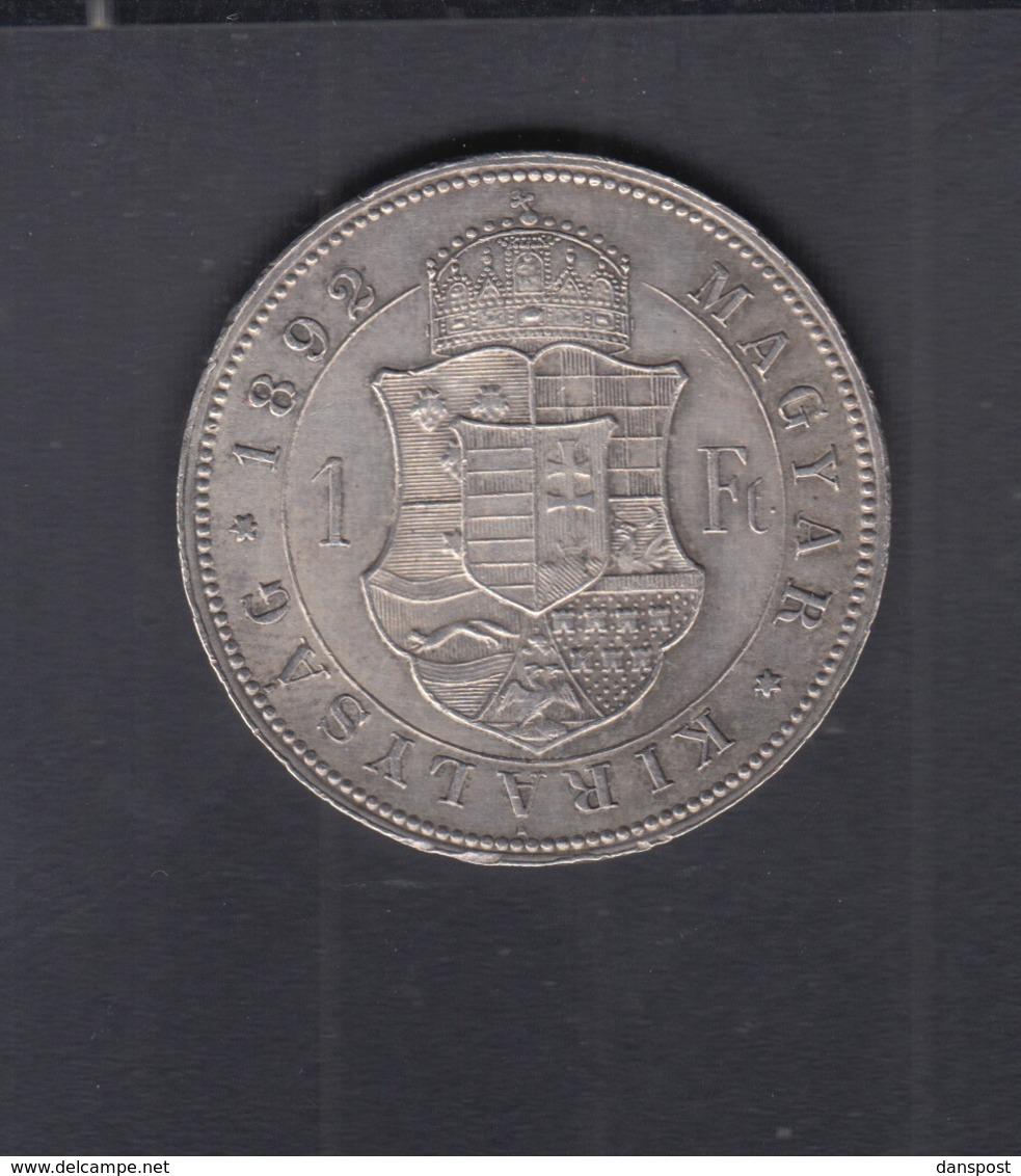 Hungary  1 Forint 1892 - Ungarn