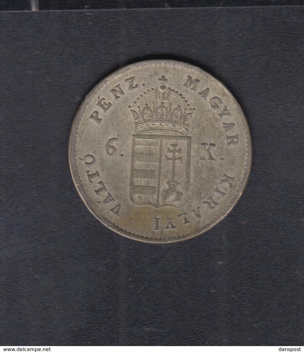 Hungary  6 Kreuzer 1849 - Ungarn