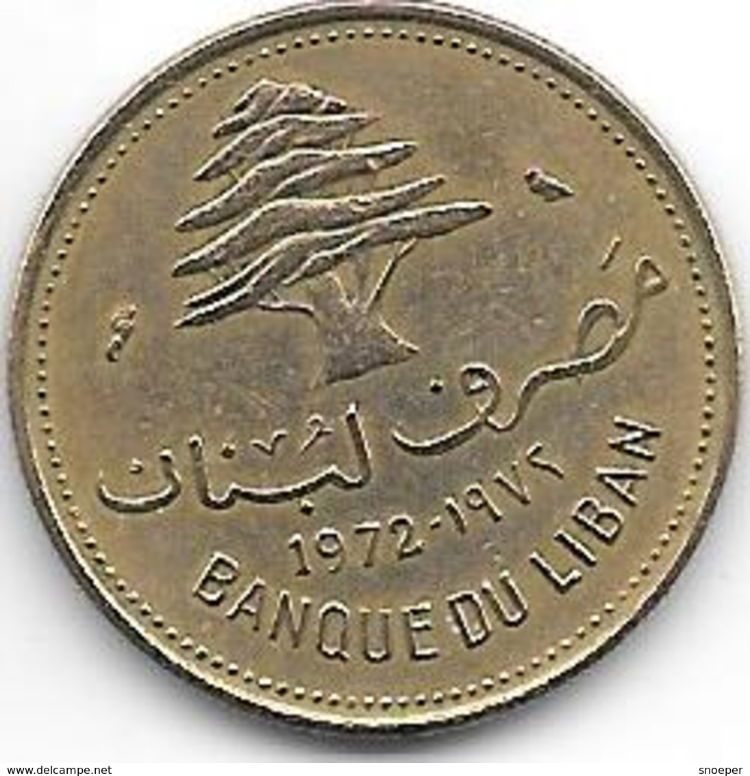 *lebanon 10 Piastres 1972  Km 26  Unc - Liban