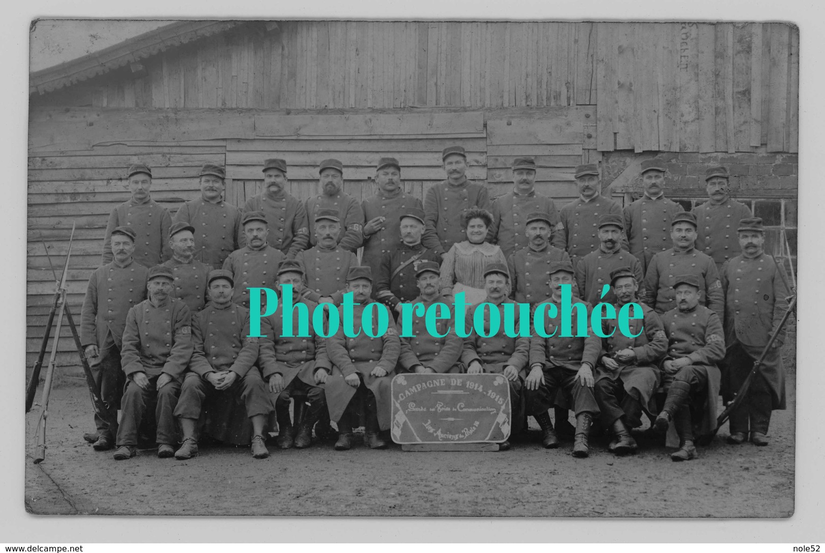 52 - HORTES - Gardes Des Voies De Communication - Campagne De 1914-1915 - PHOTO CARTE - RARE - Autres Communes