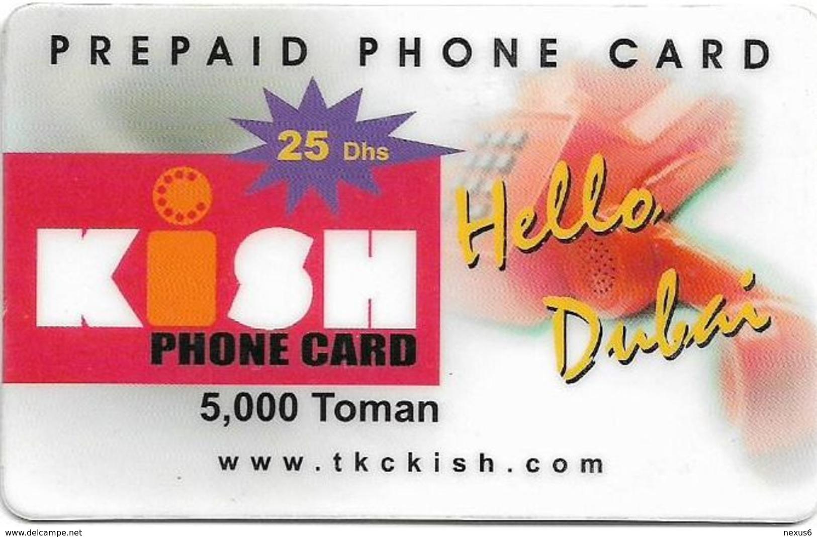Kish Island (Iran) - Hello Dubai And Phone, 5000Toman, Remote Memory, Used Rare! - Iran