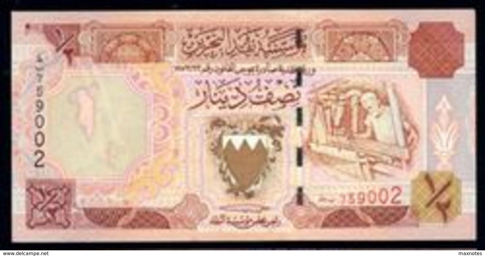 BAHREIN (BAHRAIN) : 1/2  Dinar - P18 - 1998 - UNC - Bahrein