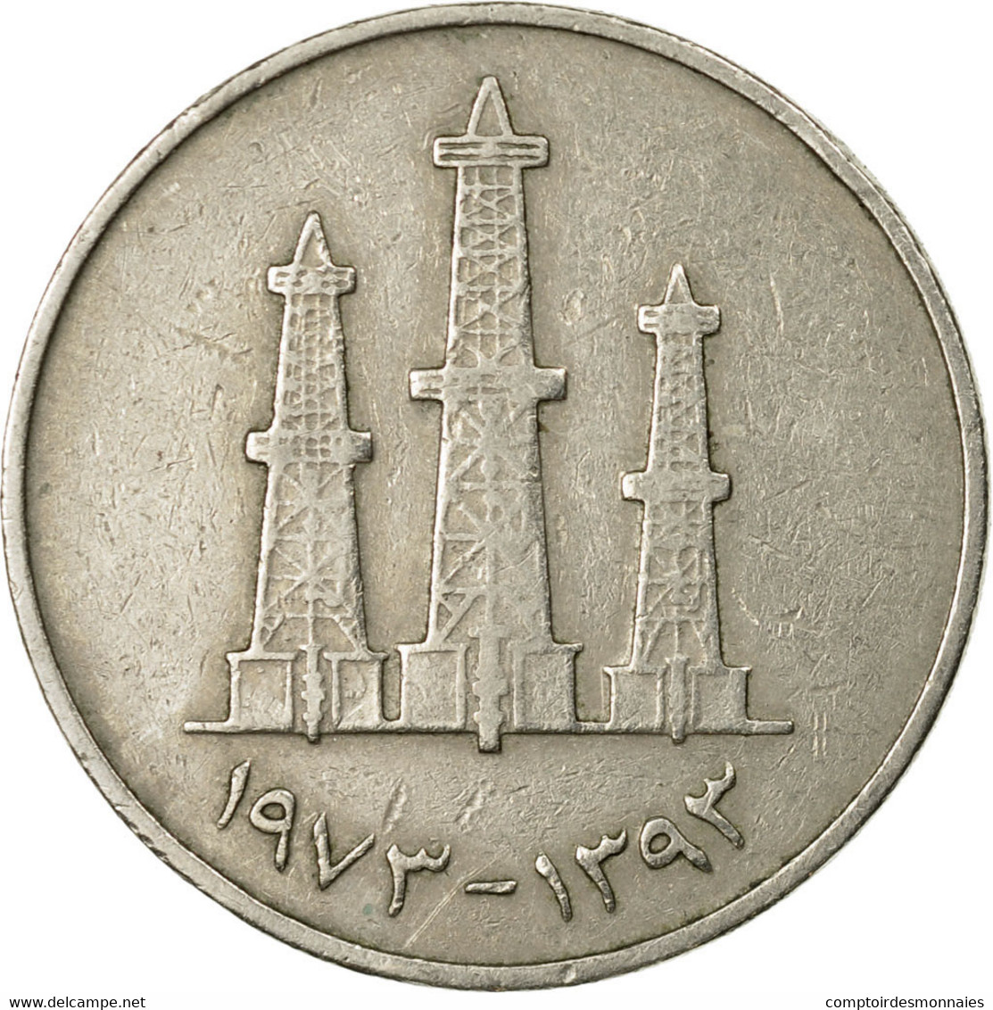 Monnaie, United Arab Emirates, 50 Fils, 1973, British Royal Mint, TTB - Emirats Arabes Unis