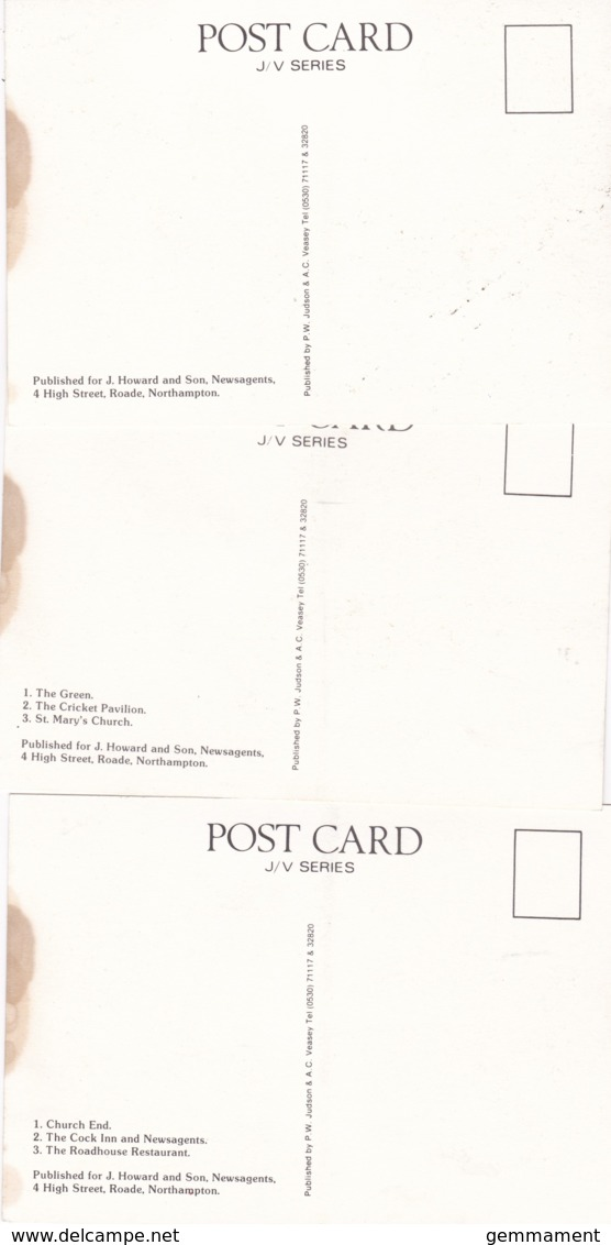 ROADE - 3 CARDS - Northamptonshire