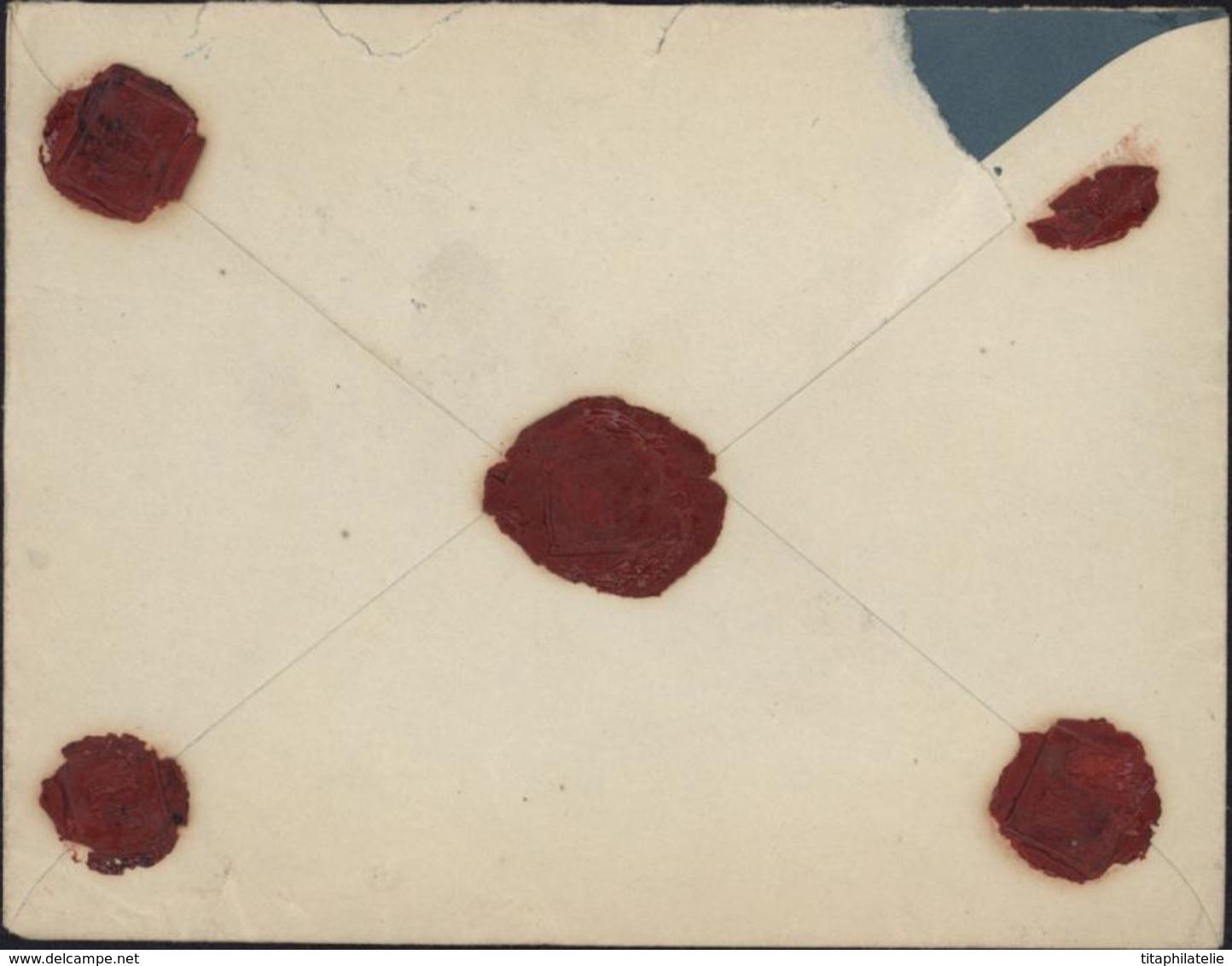 Entier Enveloppe Papier Bleu Intérieur Semeuse Camée 10c Rouge Recommandé Chargée Valeur Déclarée 1000F YT 193 205 237 - Postal Stamped Stationery