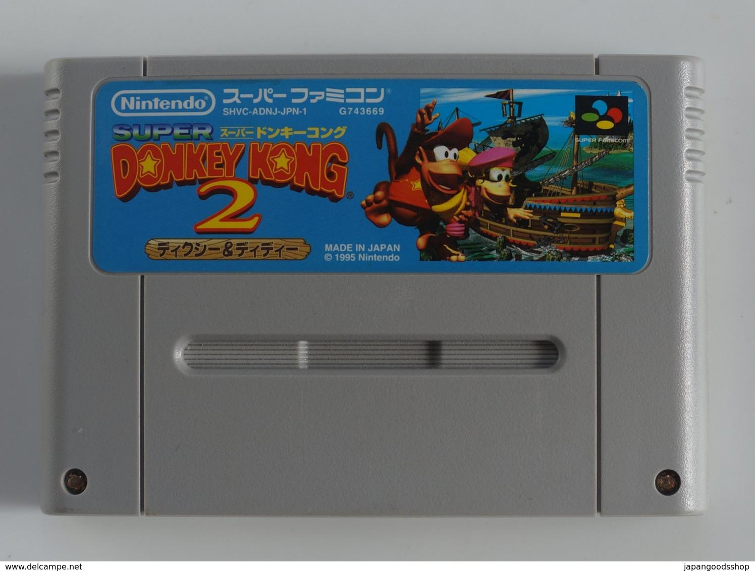 Super Famicom Super Donkey Kong 2: Dixie & Diddy / SHVC-ADNJ-JPN - Electronic Games