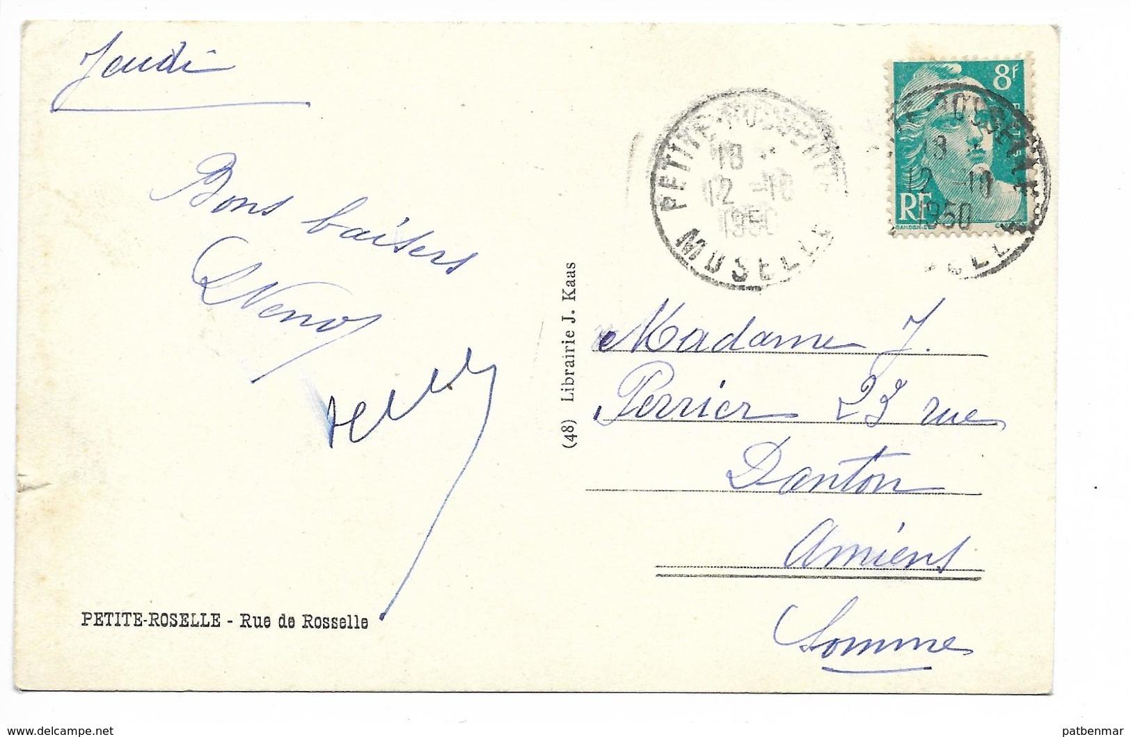 PETITE ROSELLE RUE DE ROSSELLE 1950 - Frankreich