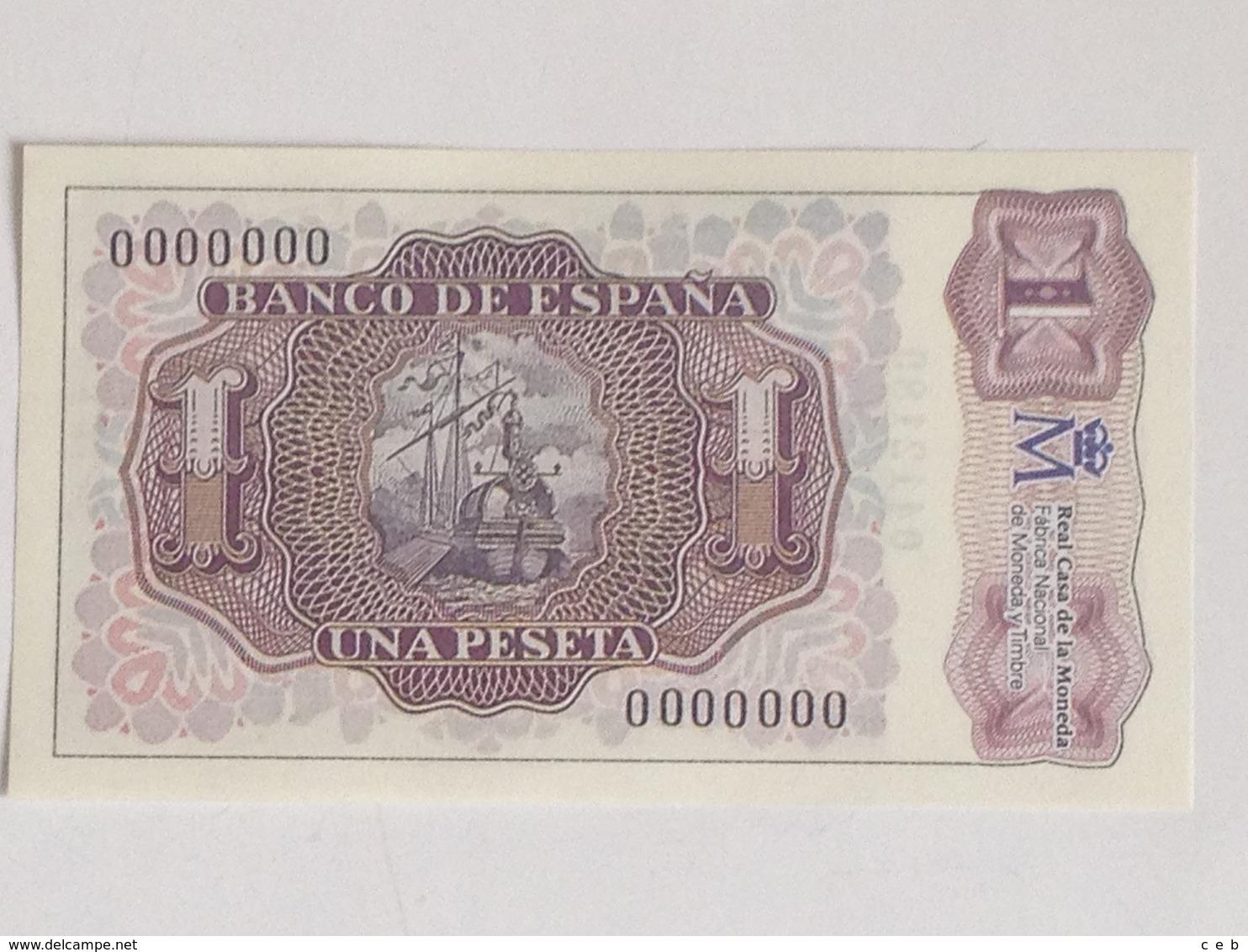 Billete 1 Peseta. 1953. España. Facsimil. Marqués De Santa Cruz. Sin Serie. Sin Circular - [ 3] 1936-1975 : Régence De Franco