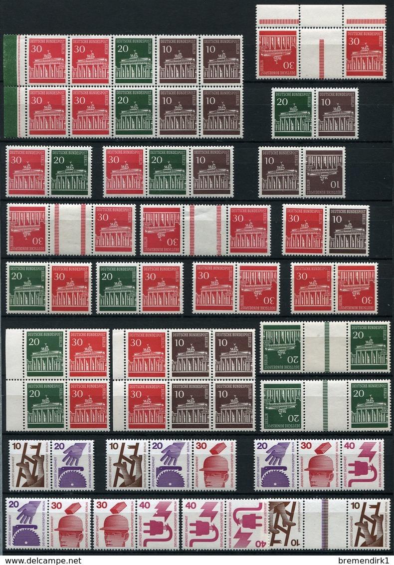 40489) BERLIN Zusammendruck & Heftchenblatt - Lot Postfrisch Aus 1966-89, 414.- € - Berlin (West)